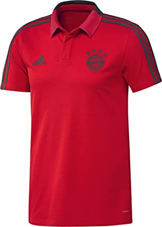 Adidas 2018 2019 Bayern Munich Training Polo Shirt Red Amazon Es