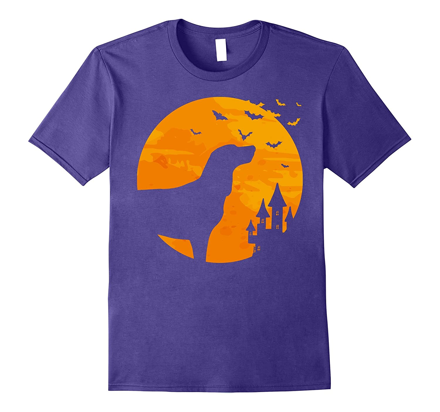 Black and Tan Coonhound Tee Scary Halloween T Shirt-FL