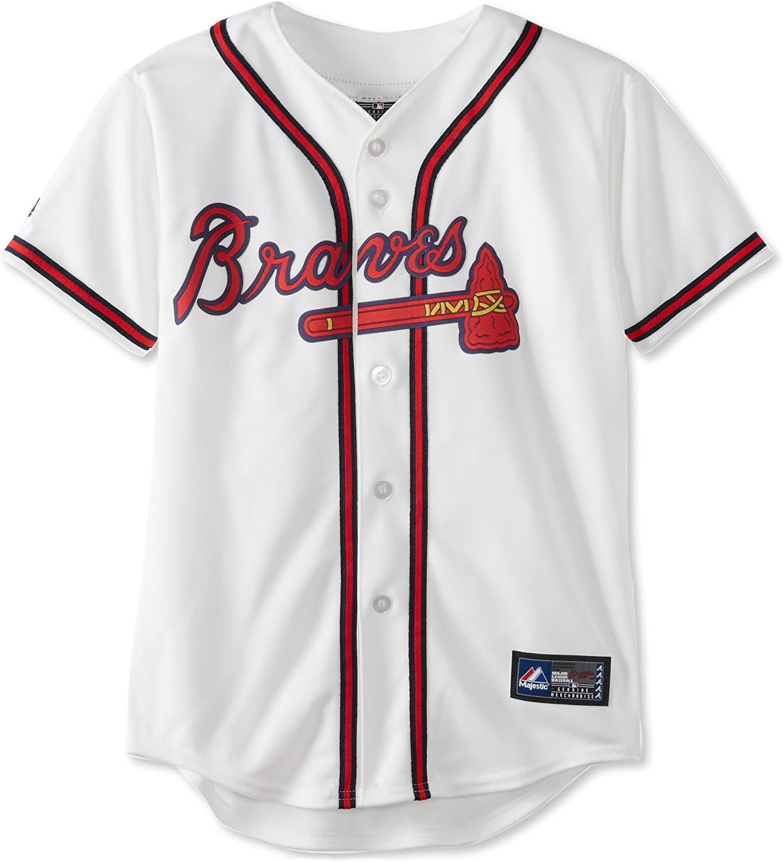 Amazon.com : MLB Atlanta Braves Jason Heyward White Home Replica ...
