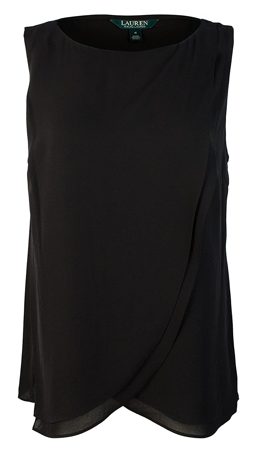 Ralph Lauren Womens Black Sleeveless Scoop Neck Top US Size  L