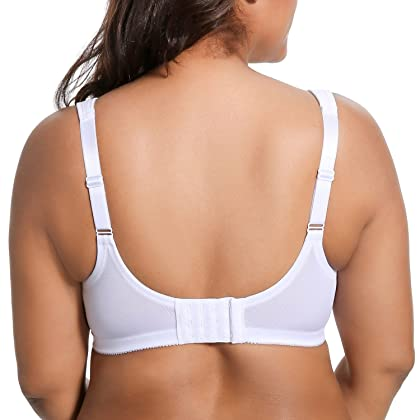 0d522c0225 ... DELIMIRA Women s Unlined Full Figure Support Plus Size Wirefree  Minimizer Bra White 44G ...