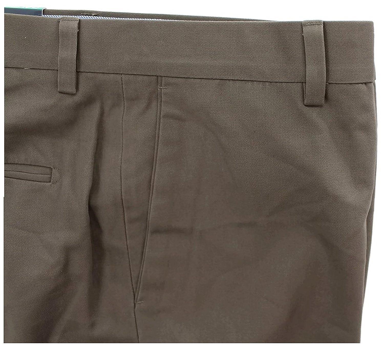 KIRKLAND Signature Light Khaki Medium Tan Flat Front 4 Pocket 100/% Cotton Pants