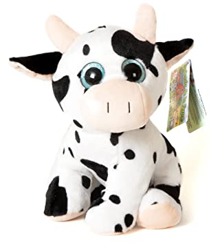 """Animales de la Granja - Peluche Vaca con ojos brillantes (10""""/27cm)"""