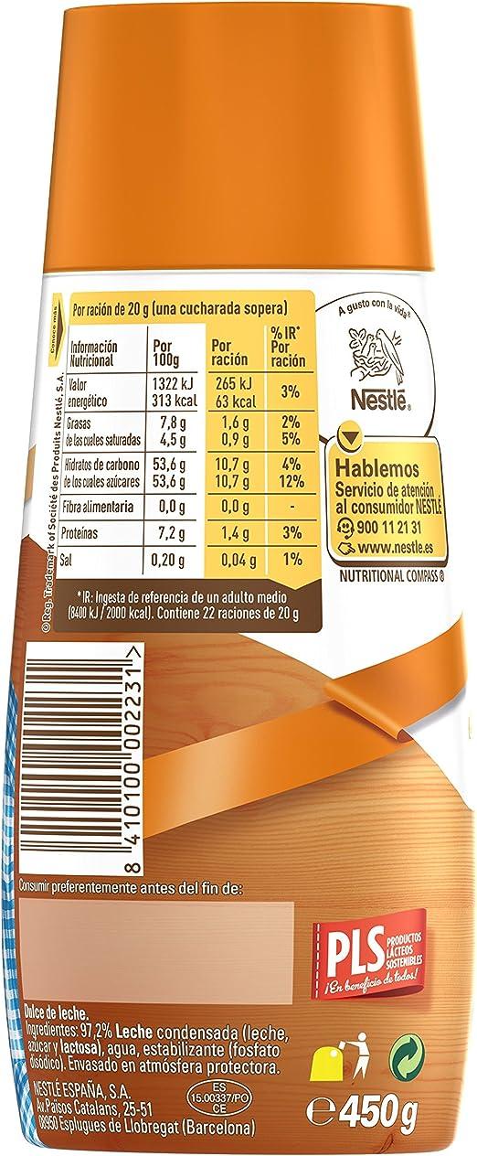 Nestlé La Lechera Dulce de leche, Leche condensada - Botella sirve fácil 450 gr: Amazon.es: Alimentación y bebidas
