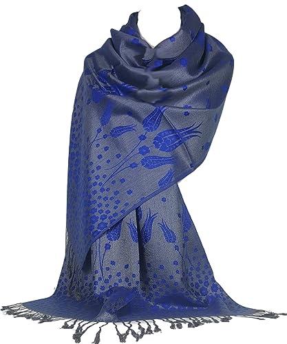 GFM -  Pashmina  - Donna S1-2022-CRTNL - Royal Blue Large