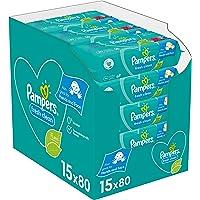 Pampers Fresh Clean Babyvåtservetter, 15 x 80 Stycken