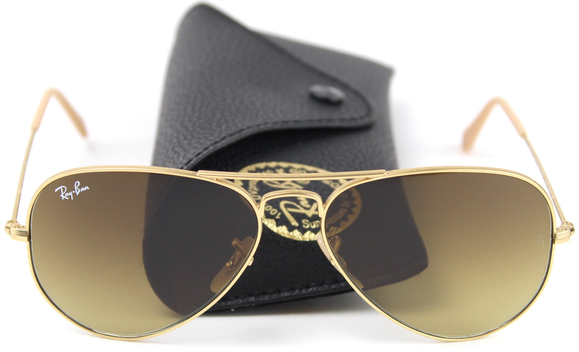 Ray-Ban RB3025 112/85 Sunglasses Gold Frame / Brown Gradient Lens 58mm