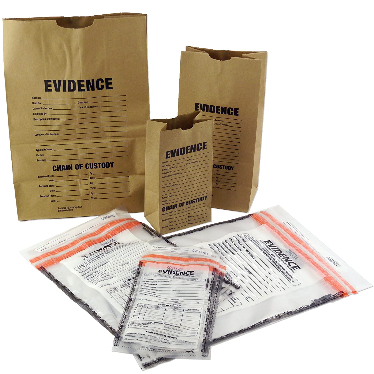 Amazon Evidence Bags Paper and Plastic Sample Pack Health