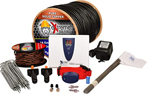 Extreme Dog Fence Underground Ultimate Electric Dog Fence – Standard Grade and Pro Grade Options – Can Contain an Unlimited Number of Dogs on Up to 10 Acres Powered by Perimeter Technologies