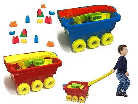 114282 Juego construcción 47 piezas CARRITO Juguete infantil para niños - Azul
