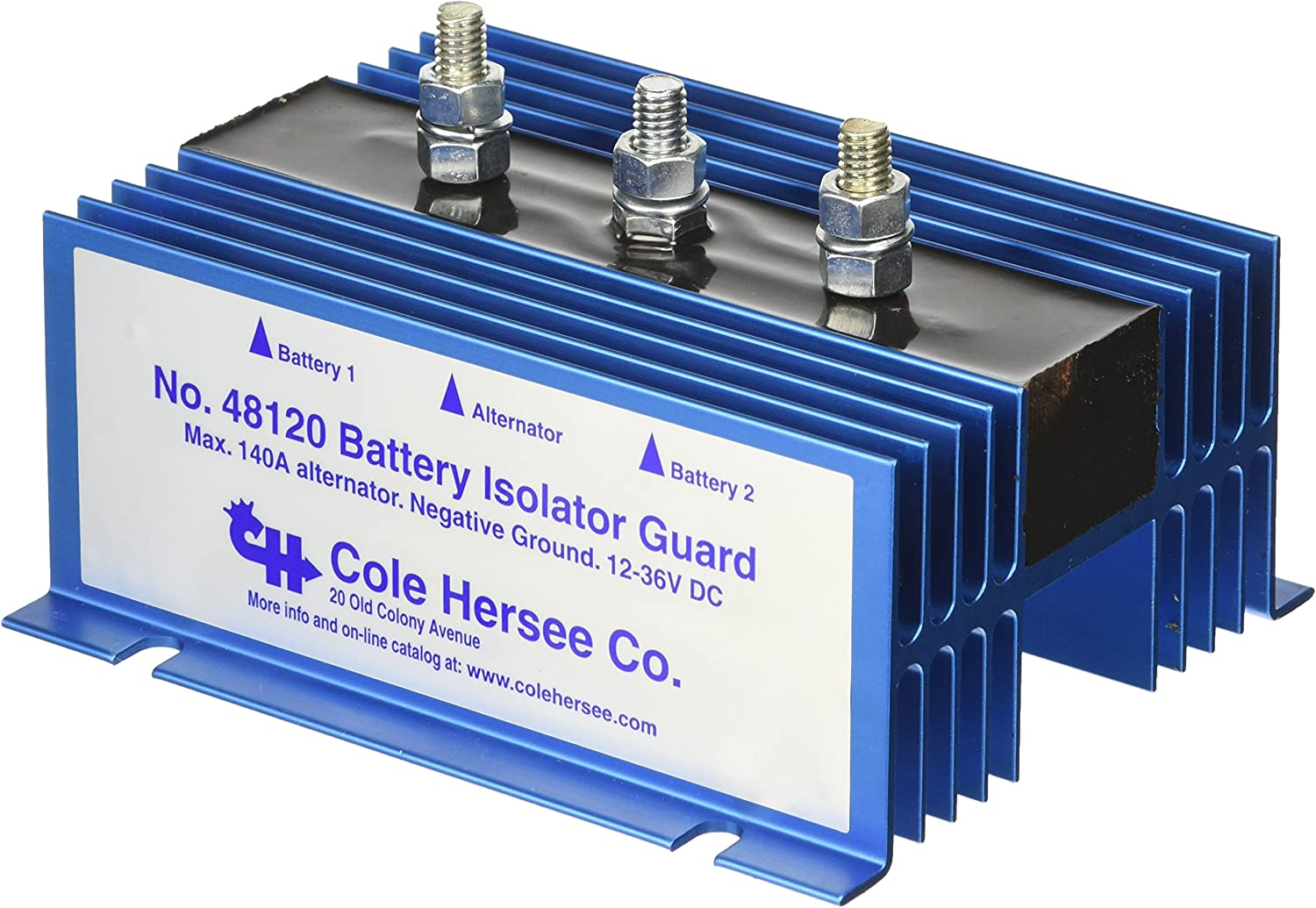 Amazon.com: Cole Hersee 48120 Battery Isolator: Automotive | Battery Isolator 48160 Wiring Diagram |  | Amazon.com