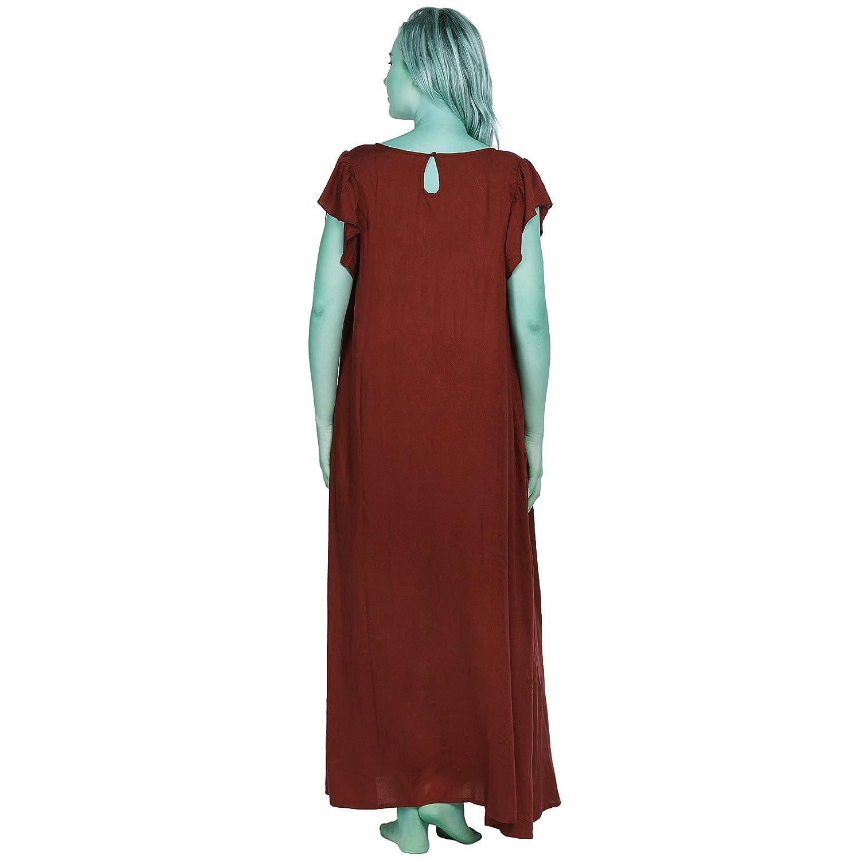 d1a13c4e56 Patrorna Women s Petal Sleeve Shift Maternity Nighty Night Dress in Maroon (Size  S-7XL