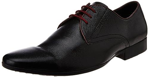 50c10071e4528 Alberto Torresi Men s 83459 Black and Burgundy Leather Formal Shoes - 10 UK