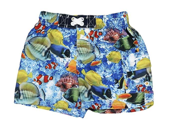 ba52465400 OP Infant Baby Toddler Boys Swim Trunks Board Shorts Swimwear (Coral Reef, 18  Months