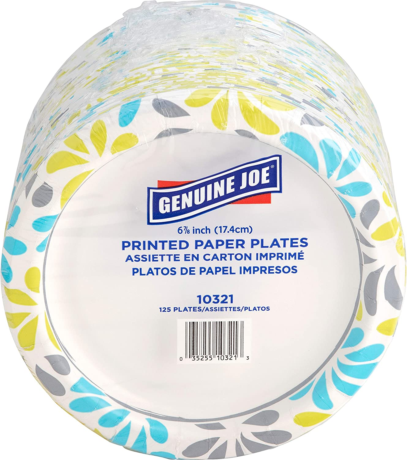 "Genuine Joe Paper Plates, 7"" (10321)"