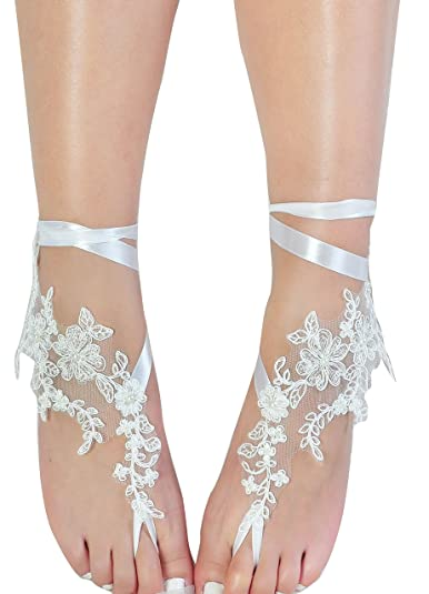 325c69b2cbf69 Image Unavailable. Image not available for. Color  Romantic Lace Barefoot  Sandals