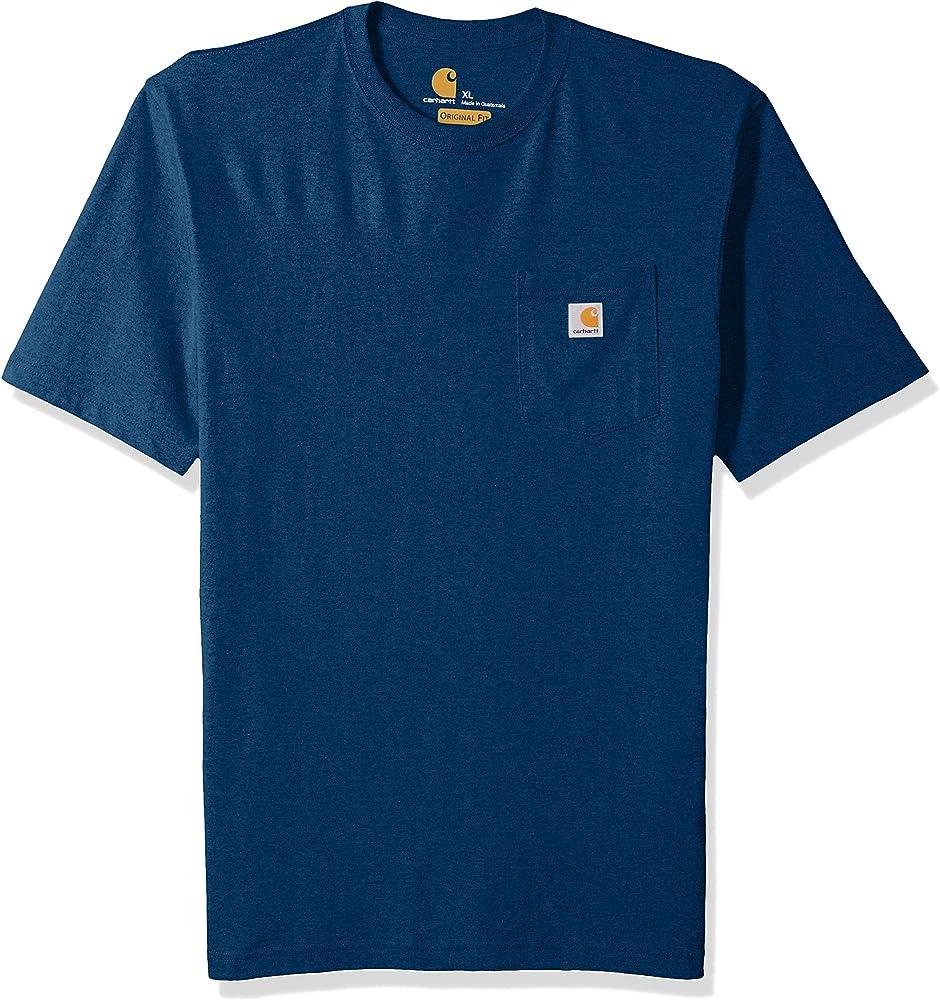 Carhartt K87 Workwear Pocket Short Sleeve T-Shirt Camisa, Melica BLU Acceso, L para Hombre: Amazon.es: Ropa y accesorios