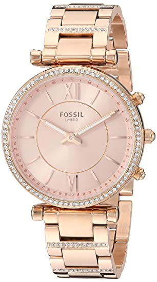 Amazon.com: Fossil - Reloj inteligente híbrido para mujer ...