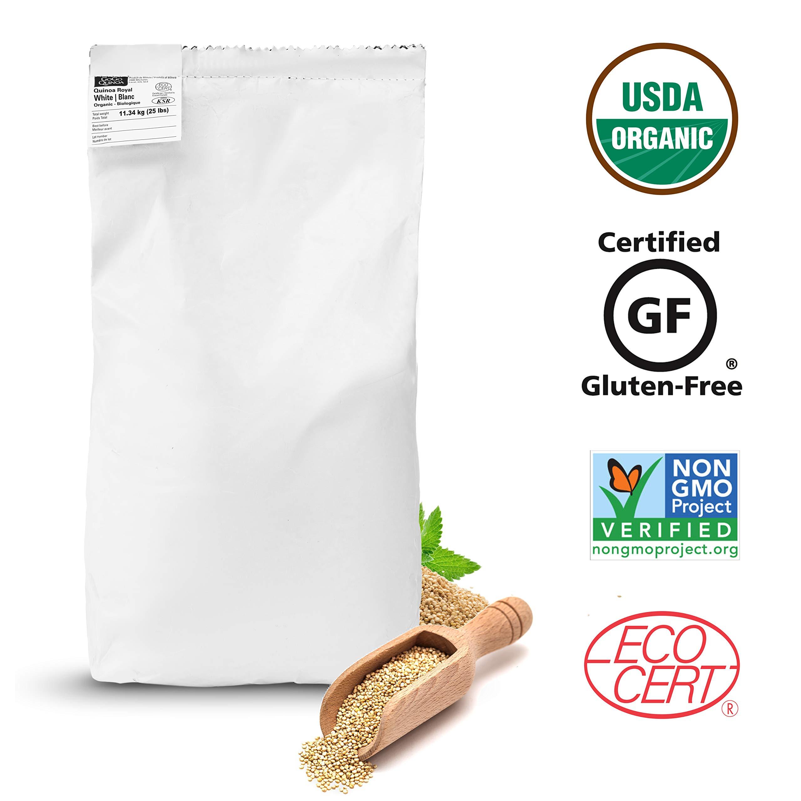 GoGo Quinoa Grains White Organic, 25 lbs by GoGo Quinoa