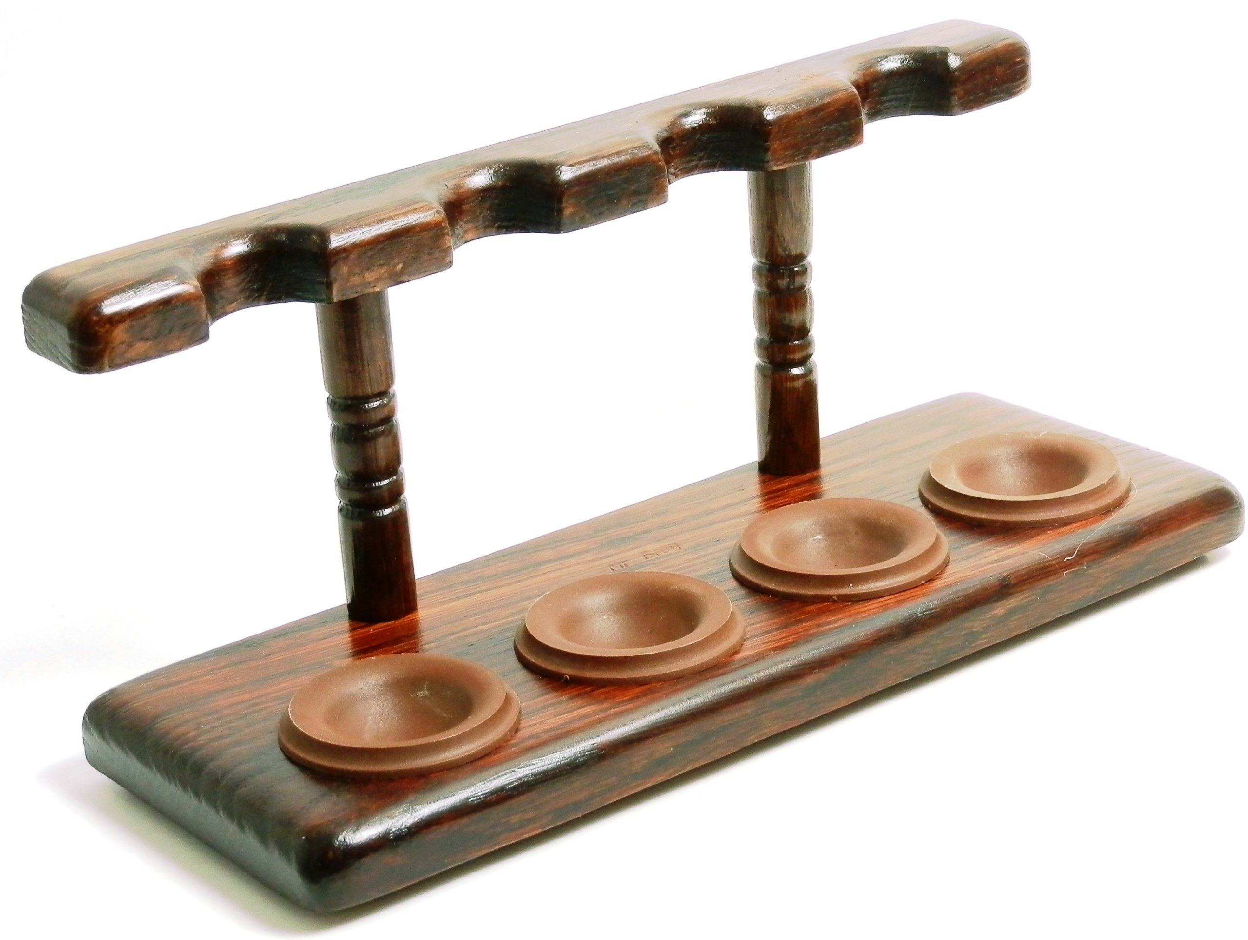 Tobacco Pipe Stand - 4 Pipe Stand - Polish Import