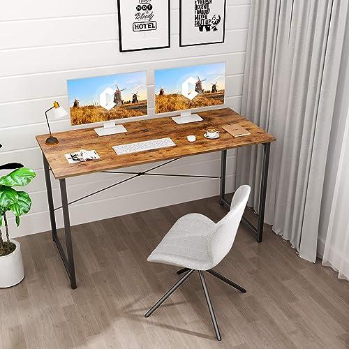Cubicubi Computer Desk 55″ Home Office Laptop Desk Study Writing Table