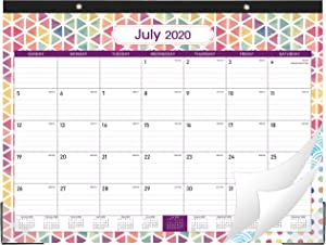 "2020-2021 Desk Calendar - Large Desk/Wall Calendar 2020-2021, 22"" x 16.8"", Jan 2020 - June 2021, 18 Months Planning, Large Ruled Blocks, Tear Off, Desk/Wall Calendar for Planning and Organizing"