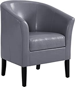 Linon Simon Dark Gray Club Chair, Black