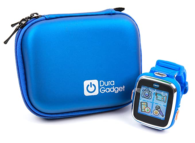 DURAGADGET Premium Quality Shock Absorbent Blue Shell Case with Carabiner Clip & Dual Zip Function - Suitable for Kidizoom Smartwatch DX2 | DX | ...