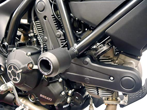 Years 2016 to 2020 PRN013025 Evotech Performance Front Wheel Sliders to fit the Ducati Scrambler Sixty2 model.