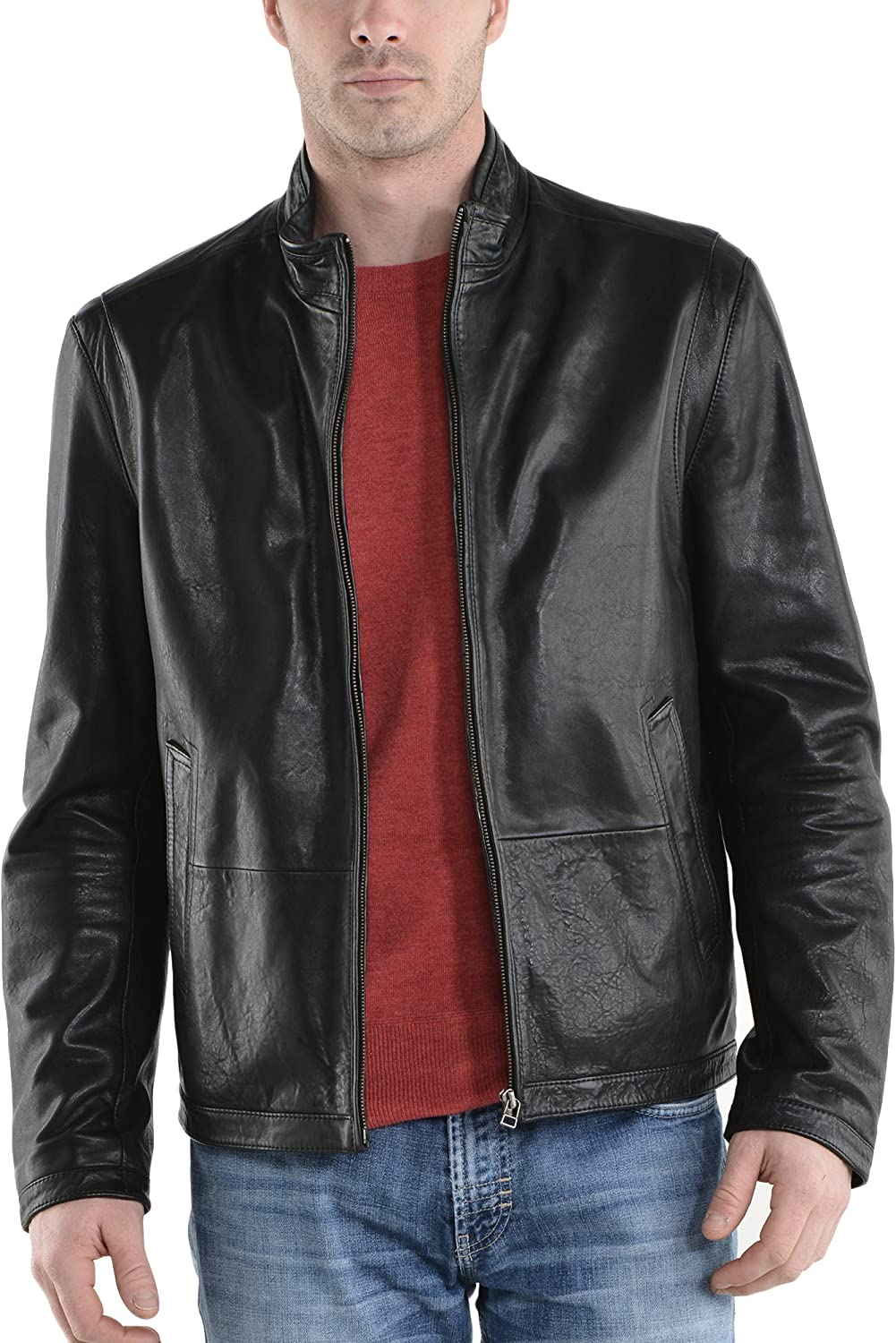Kingdom Leather New Men Motorcycle Lambskin Leather Jacket Coat Size XS S M L XL X059