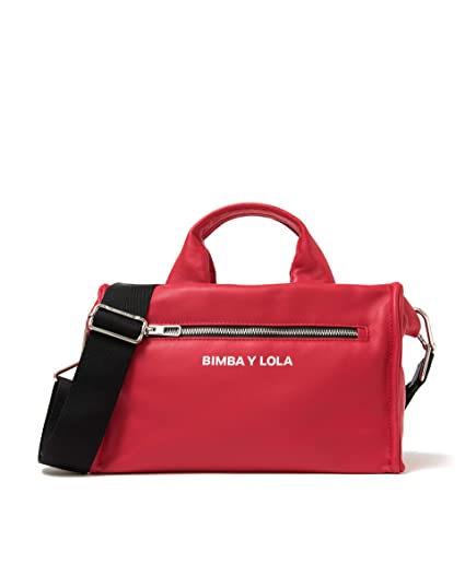 1bc6ca73f52 Amazon.com: Bimba y Lola Women Red padded leather tote bag 191BBNA1T:  Clothing