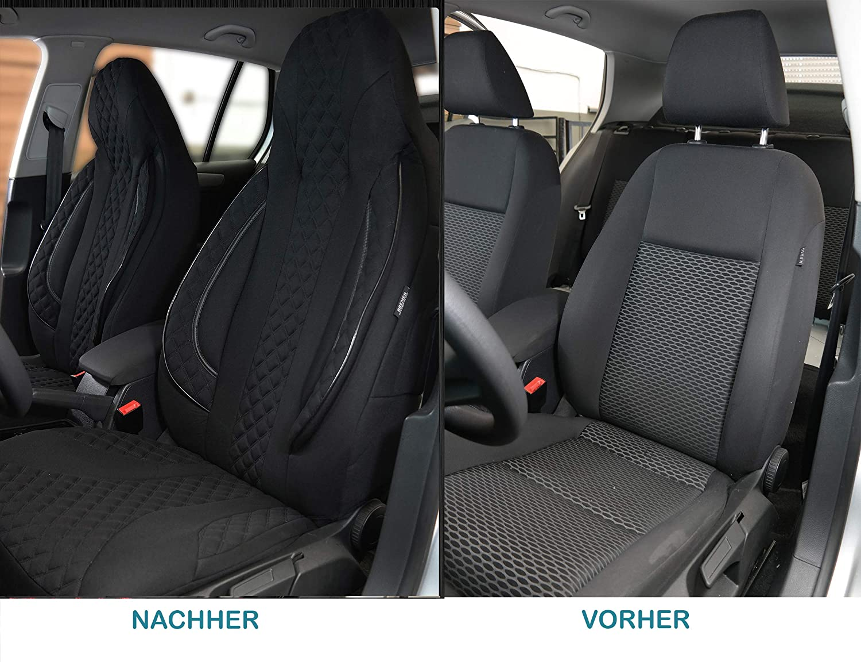 Ma/ß Sitzbez/üge kompatibel mit BMW 3er F30 /& F31 Fahrer /& Beifahrer ab BJ 2011-2018 Farbnummer PL404