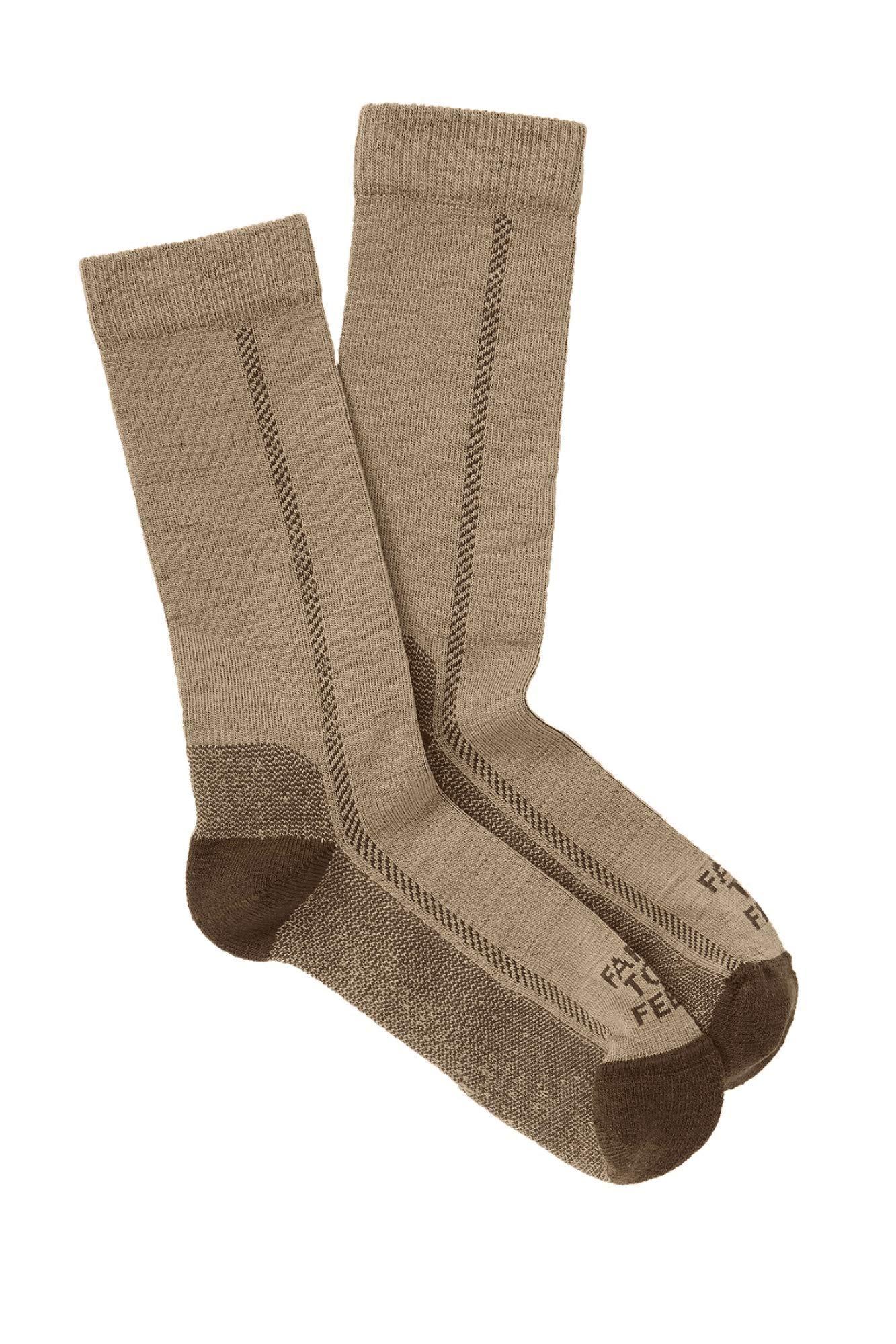 Farm to Feet Mens Madison Lightweight Socks, Desert Tan, Medium by Farm to Feet