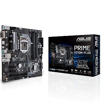 Asus Intel H370 LGA-1151 mATX - Placa con iluminación LED, DDR4 2666MHz,