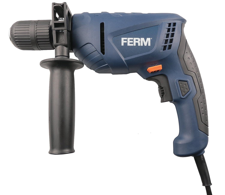 Naranja Plata FERM PDM1051 Taladro percutor Azul 550 W 230 V Negro
