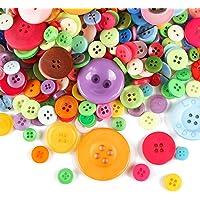 Naler 750Multicolor Botones Set Redonda (plástico, Botones Mixed