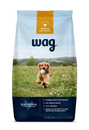 Amazon Wag Dry Dog Food For Puppies Chicken Lentil Recipe