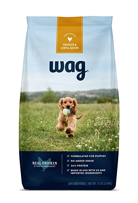 Amazon wag dry dog food for puppies no added grain chicken wag dry dog food for puppies no added grain chicken lentil recipe forumfinder Gallery