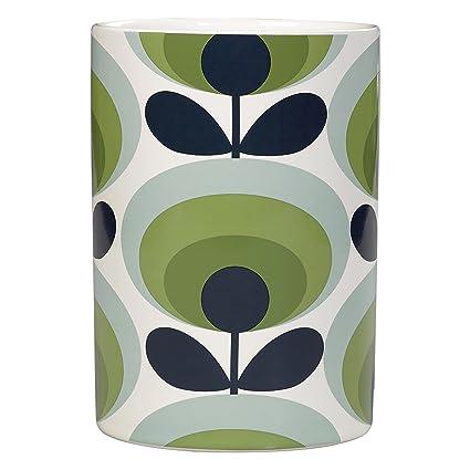 Amazon Orla Kiely Utensils Pot 70s Oval Flower Green Kitchen