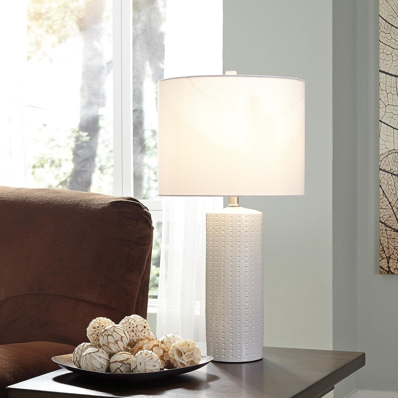 ceramic table lamp in white set of 2 amazoncom