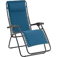Lafuma Relax-Liegestuhl, Klappbar und verstellbar, RSX Polycoton, Ardoise (Dunkelgrau), LFM2001-4258