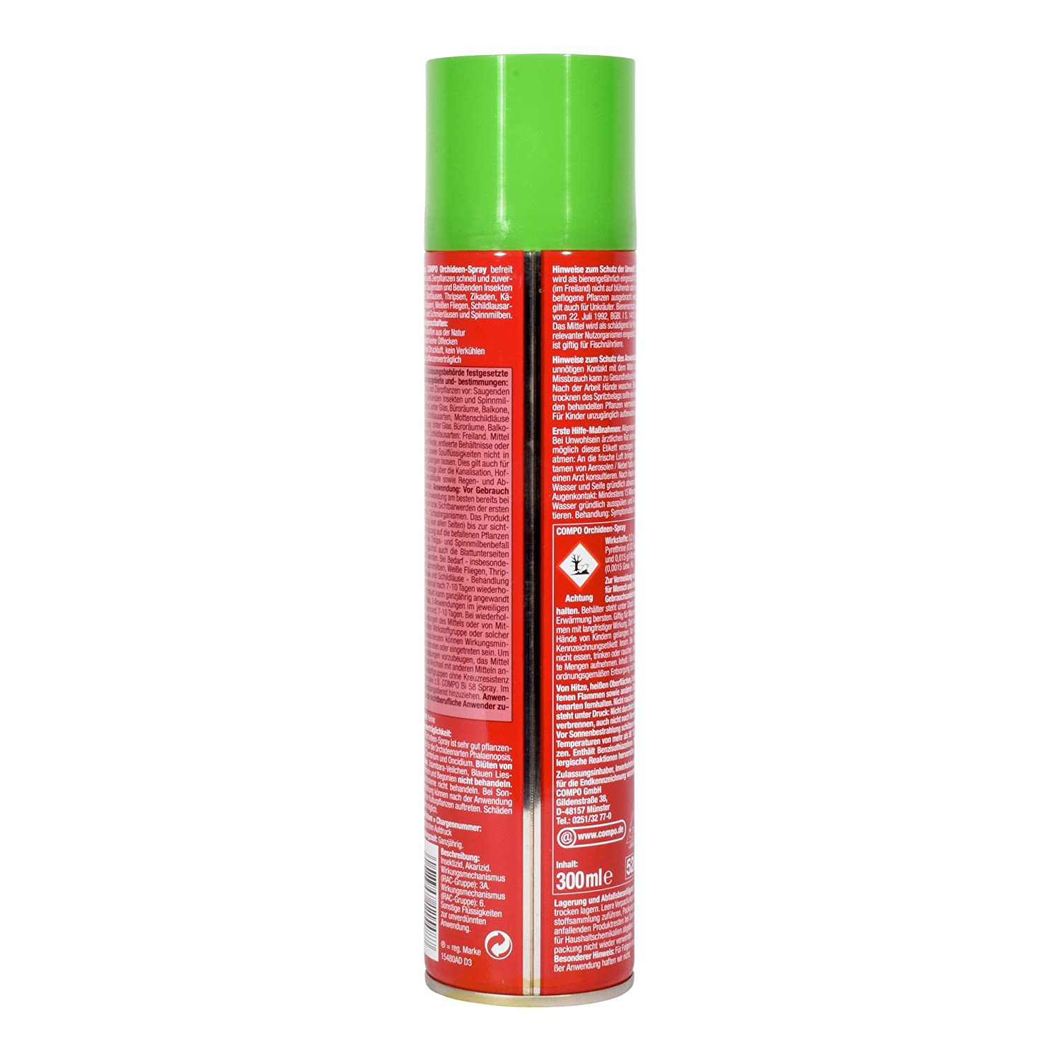 Compo insecticide spray with a wide range of efficacy especially for ...