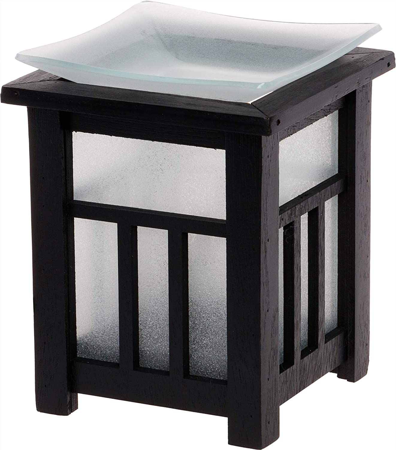Mindful Design Frosted Pagoda Wax Warmer - Asian Inspired Plug-in Wax Melter Air Freshener and Night Light, Ideal for Bedrooms, Bathrooms, Living Rooms