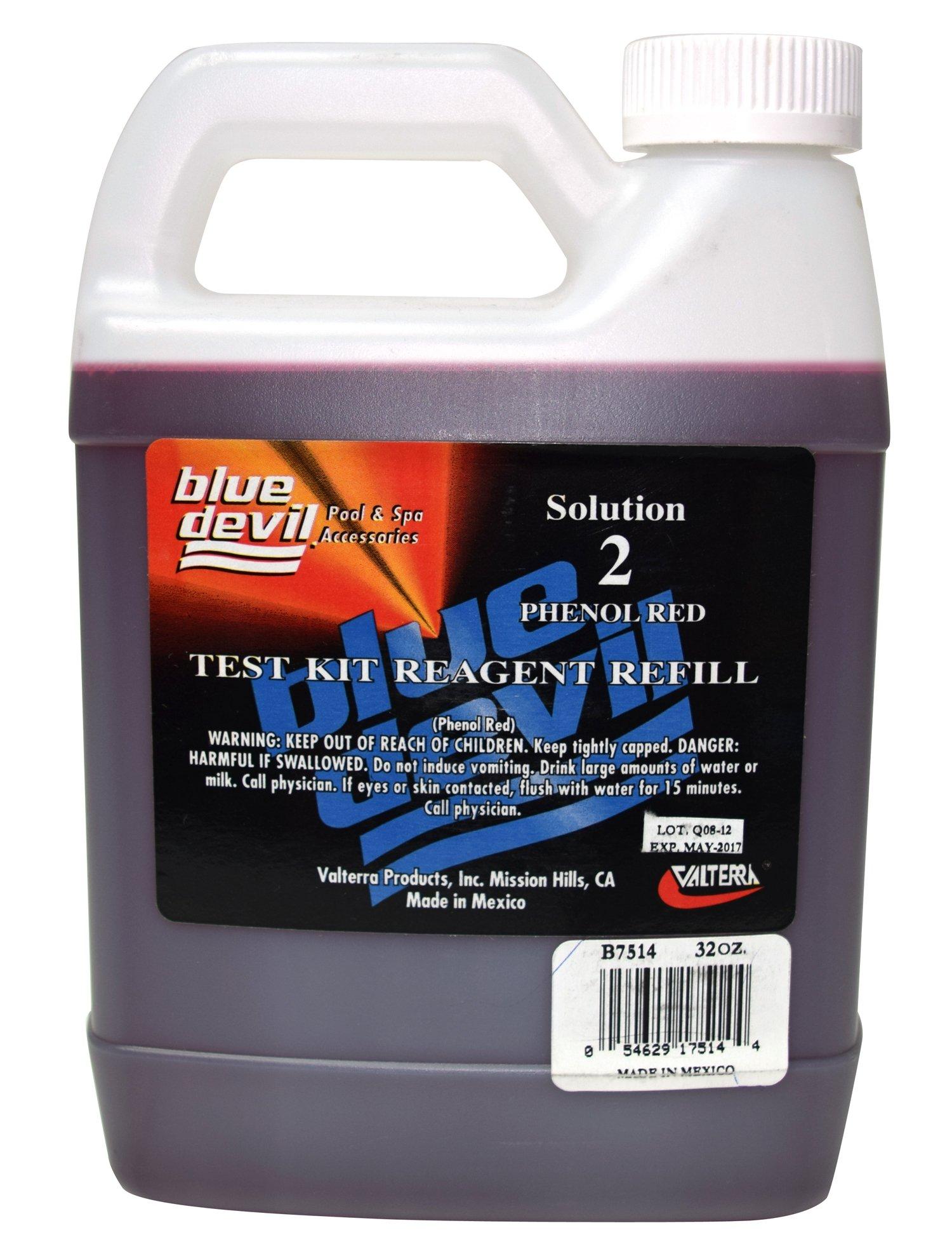 Blue Devil B7514 #2 Phenol Red (5-Way), Quart - 32oz Bottle by Blue Devil