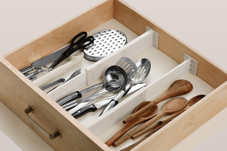 Kitchen drawer accessories uk - Premier Housewares Drawer Dividers Set Of 2 White Amazon Co Uk Kitchen Home