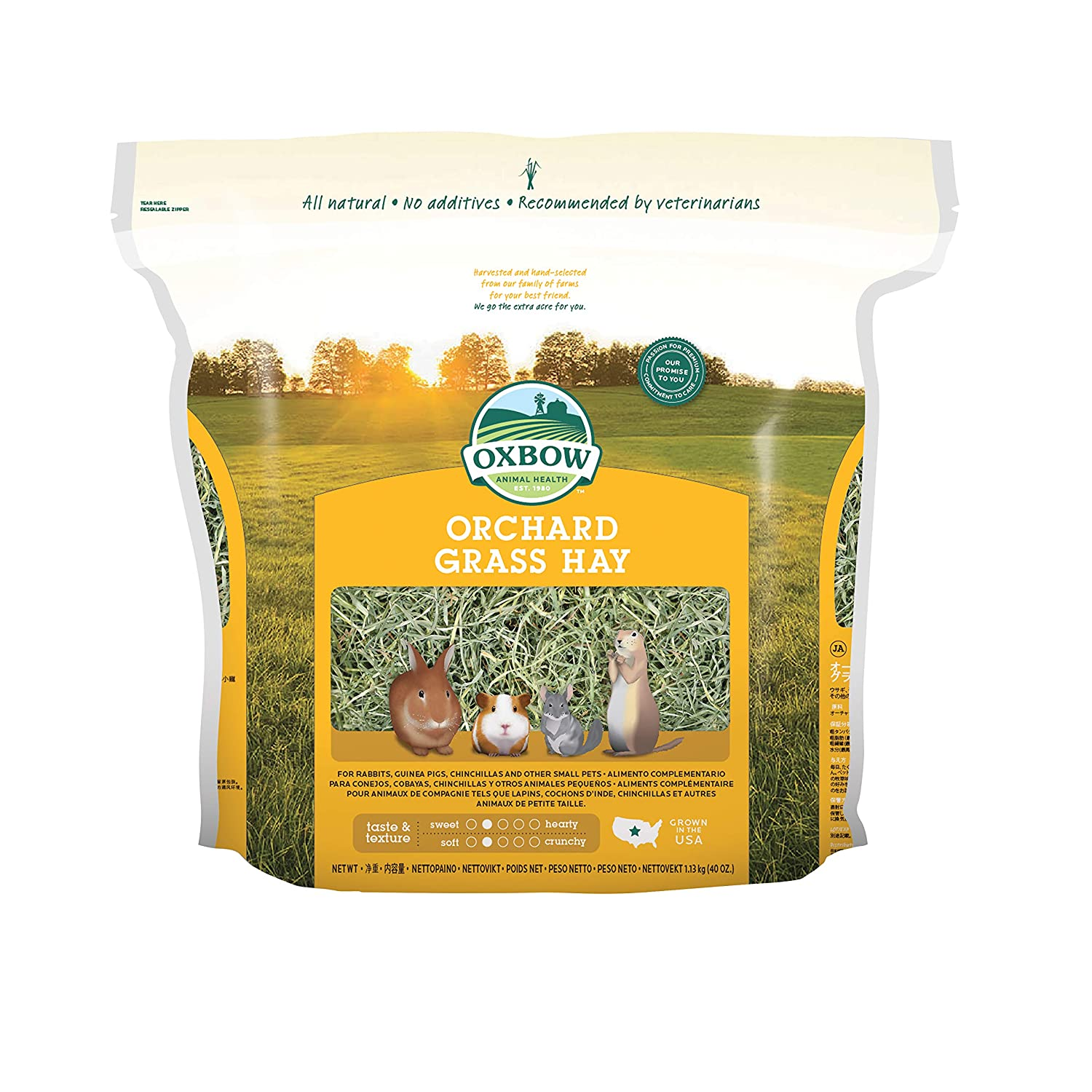 Oxbow Animal Health Orchard Grass Hay for Pets 40-Ounce