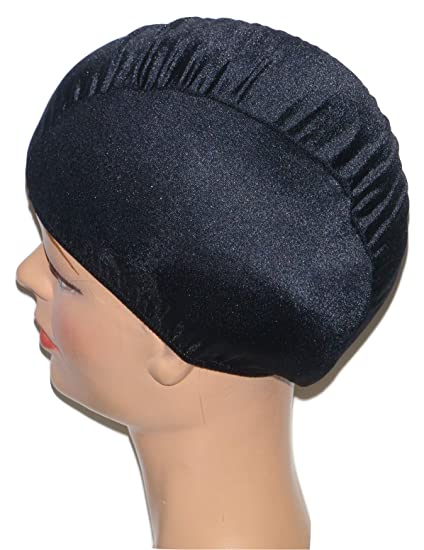 d62b1dc9419 Amazon.com   Extra Large Black Lycra Swim Cap (XL)   Bathing Caps ...