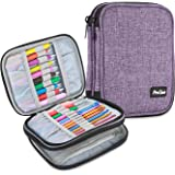 ProCase Crochet Hook Case (up to 6.5 Inches), Travel Organizer Zipper Bag for Various Crochet Hooks, Circular Knitting Needles and Other Accessories (NO Accessories Included), Purple