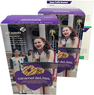 product image for Samoas Girl Scout Cookies (Caramel DeLites) 2 Pack, 7oz Each - Comes with 4 Fun, Unique Recipes for Thin Mints, Samoas, Tagalongs and Do-si-dos
