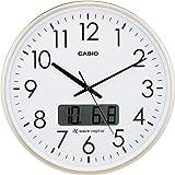 CASIO(カシオ) 掛け時計 電波 アナログ ウェーブセプター プログラム 時報 機能 カレンダー デュアルタイム 表示 シャンパンゴールド IC-2100J-9JF